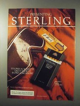 1984 Sterling Cigarettes Ad - St. Moritz a Ski Resort - $14.99