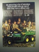 1987 John Deere AMT 600 All Materials Transport ATV Ad - $14.99