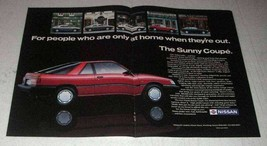 1987 Nissan SLX Coupe Car Ad - At Home When Out - $14.99