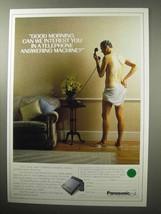 1987 Panasonic Telephone Answering Machine Ad - $14.99