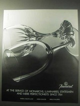 1985 Baccarat Crystal Ad - Service of Monarchs - $14.99