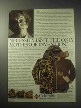 1985 Columbia Quad Parka Ad - The Mother of Invention - $14.99