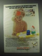 1985 Johnson & Johnson Bathtime Water Works Toy Ad - $14.99