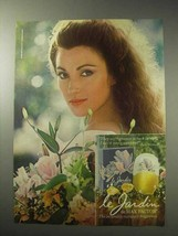 1985 Max Factor Le Jardin Perfume Ad - $14.99