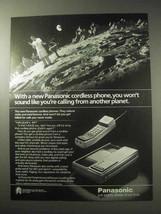 1985 Panasonic Cordless Phone Ad - Another Planet - $14.99