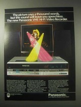 1985 Panasonic PV-1740 VHS Hi-Fi Recorder Ad - $14.99