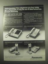 1985 Panasonic Telephones Ad - KX-T 2425 KX-T 2130 - $14.99