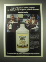 1985 Quaker State De Luxe Motor Oil Ad - Easy To Pour - $14.99
