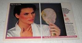 1985 Revlon Moon Drops Moisture Film Ad - $14.99