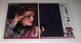 1985 Revlon Custom Eyes Compact Ad - Choose Colors - $14.99