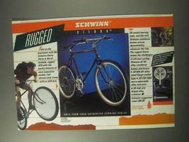 1985 Schwinn Sierra Bicycle Ad - Rugged - $14.99