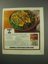 1986 Campbell's Nacho Cheese Soup / Dip Ad - Taco - $14.99