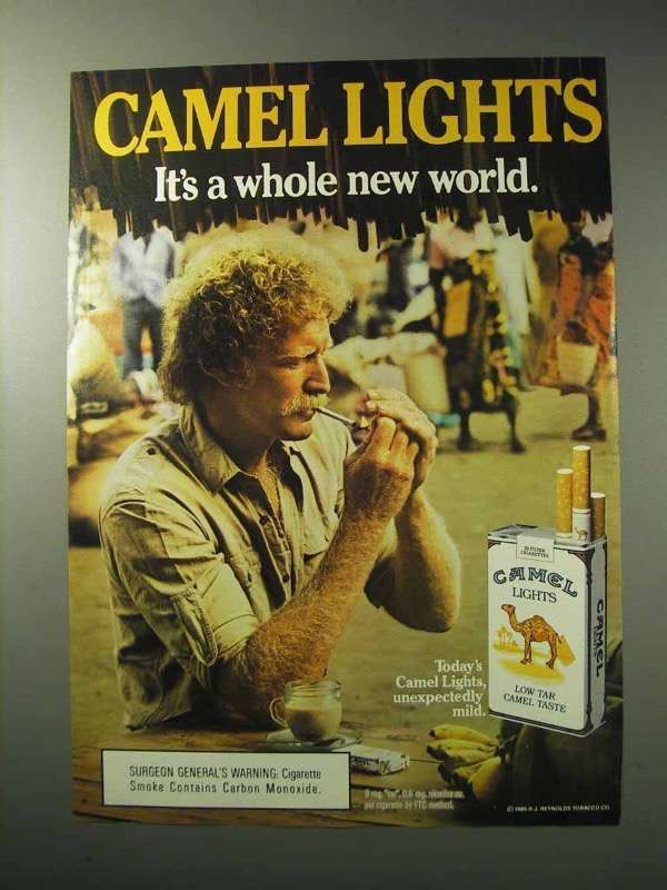 1986 Camel Lights Cigarettes Ad - Whole New World - $14.99