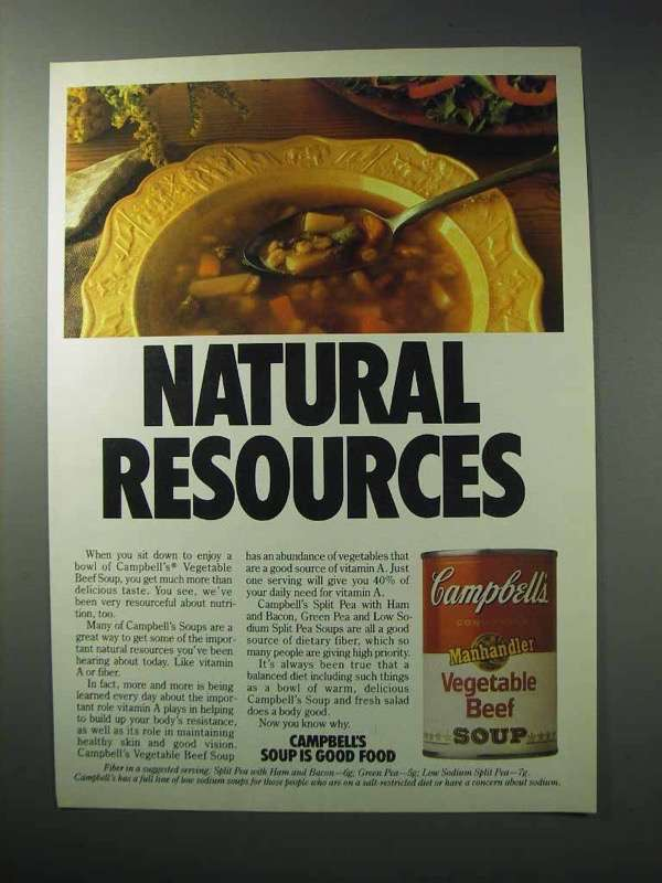 1986 Campbell's Vegetable Beef Soup Ad - Resources