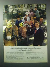 1986 Charleston Place Hotel Ad - Welcoming and Gracious - $14.99