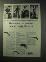 1986 Colt Revolvers Ad - Rest Over an Empty Chamber - $14.99