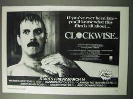 1986 Clockwise Movie Ad - John Cleese - $14.99