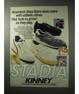 1986 Kinney Stadia Shoes Ad - Look Great As They Play - $14.99