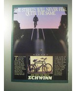 1986 Schwinn Mirada Bicycle Ad - Streets Never the Same - $14.99