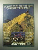 1986 Schwinn Sierra Bicycle Ad - Greatest Resistance - $14.99