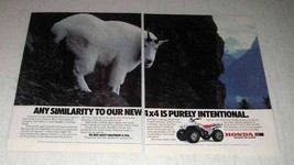1987 Honda FourTrax 4x4 ATV Ad - Any Similarity - $14.99