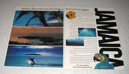 1987 Jamaica Tourism Ad - Famous For Its Blues - $14.99