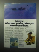 1987 Kaufman Sorels Boots Ad - Winter Takes You - $14.99