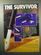 1987 Knifeco Survivor Knife Ad - The Survivor! - $14.99