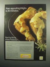 1987 Kraft Velveeta Cheese Ad - Appealing Thighs - $14.99