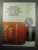 1987 Max Factor Diamond Hard Formula Nail Enamel Ad - $14.99
