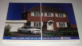 1987 Nissan Bluebird Car Ad - More Paint On The Car - $14.99