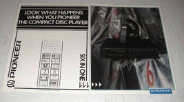 1987 Pioneer PD-M70 Compact Disc Player Ad - $14.99