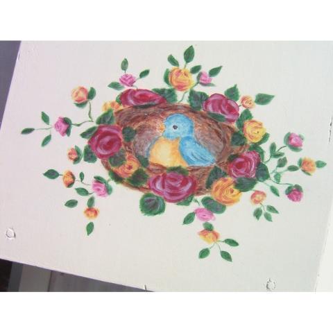 Cradle Handpainted Roses