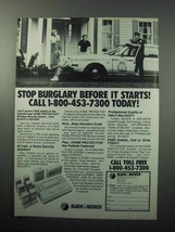 1988 Black & Decker Home Protector Security System Ad - $14.99