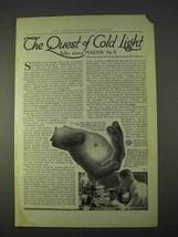 1914 General Electric Mazda No.5 Light Bulb Ad - Quest - $14.99