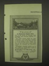 1922 Binney & Smith Crayola Crayons Ad - Essential - $14.99