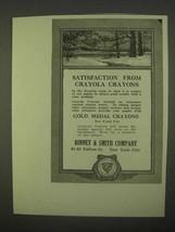 1922 Binney & Smith Crayola Crayons Ad - Satisfaction - $14.99