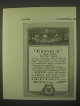 1922 Binney & Smith Crayola Crayons Ad - Quick Medium - $14.99