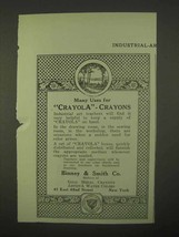 1922 Binney & Smith Crayola Crayons Ad - Many Uses - $14.99
