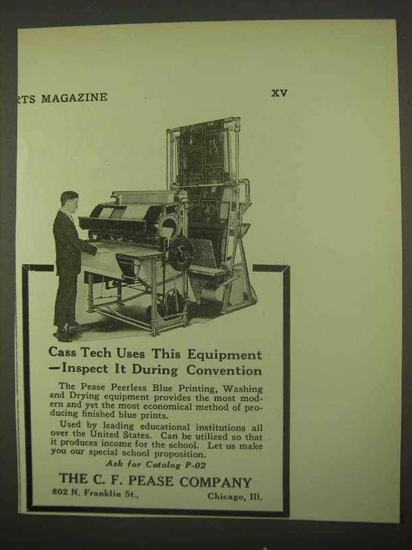 1922 C.F. Pease Peerless Blue Printing, Washing Ad - $14.99