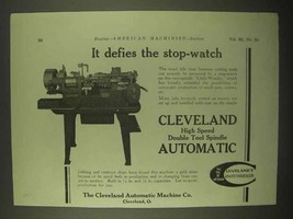 1922 Cleveland Double Tool Spindle Automatic Ad - $14.99