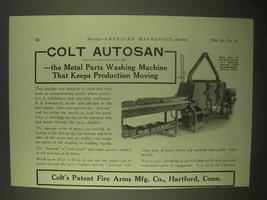 1922 Colt Autosan Metal Parts Washing Machine Ad - $14.99