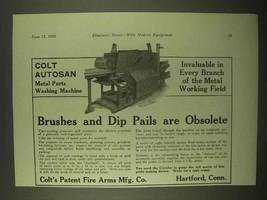 1922 Colt Autosan Metal Parts Washing Machine Ad - Obsolete - $14.99