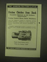 1922 Carlyle Johnson Single Clutch Ad - $14.99