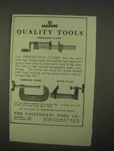 1922 Cincinnati Tool Ad - Carriage Clamp, Quick Clamp - $14.99