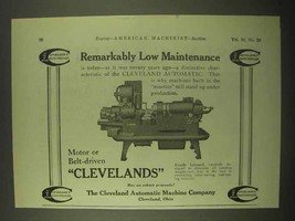 1922 Cleveland Automatic Machine Company Ad - $14.99