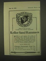 1922 Chicago Pneumatic Tool Keller Sand Rammers Ad - $14.99
