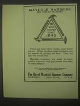 1922 David Maydole Hammers Ad - World's Standard - $14.99
