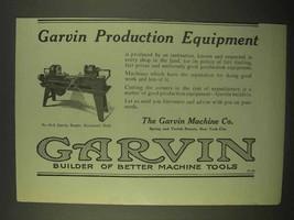 1922 Garvin No. 00-8 Garvin Duplex Horizontal Drill Ad - $14.99