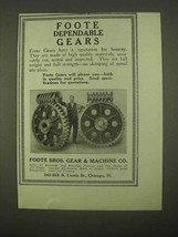 1922 Foote Bros. Gears Ad - Dependable Gears - $14.99